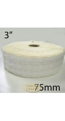 "3"" Curtain Tape White Bulk"